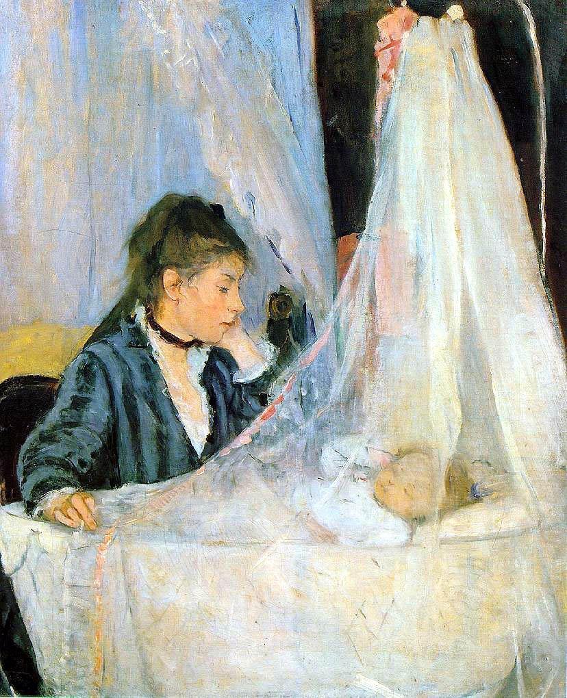 Berthe Morisot (1841 - 1895) - Le Berceau - soin