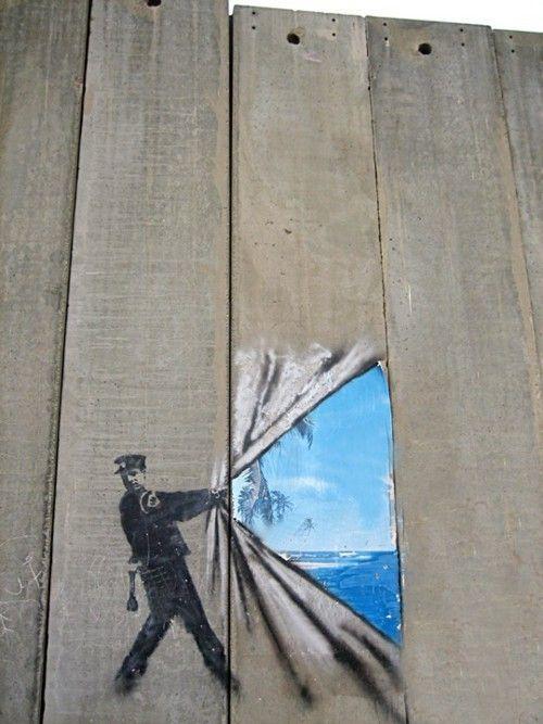 Bansky - Bande de Gaza - 2005 une fenêtre sur la liberté