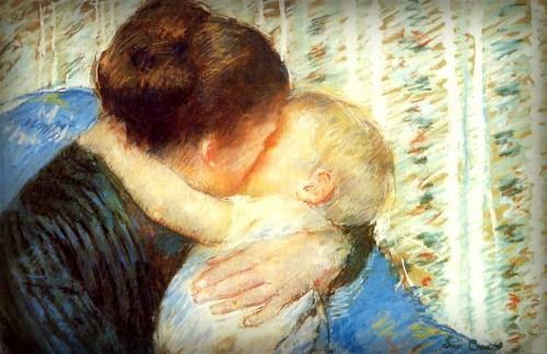 Mother and child, Mary Cassatt, 1880 confiance de l'enfant en sa mère