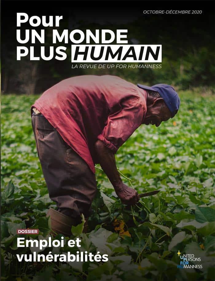 Une du deuxième numéro de la revue Pour un monde plus humain