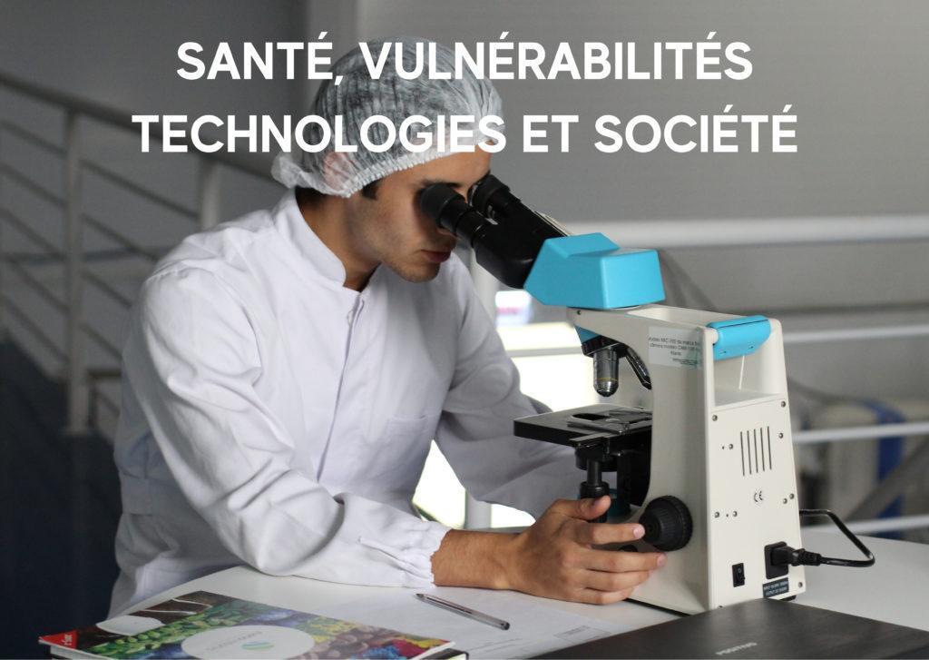 Chercheur en laboratoire pour illustrer le thème Santé, vulnérabilités, technologies et société