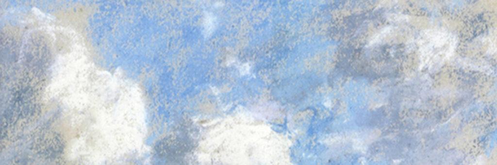 Invitation au voyage avec un détail d'étude de ciel de Eugène Boudin